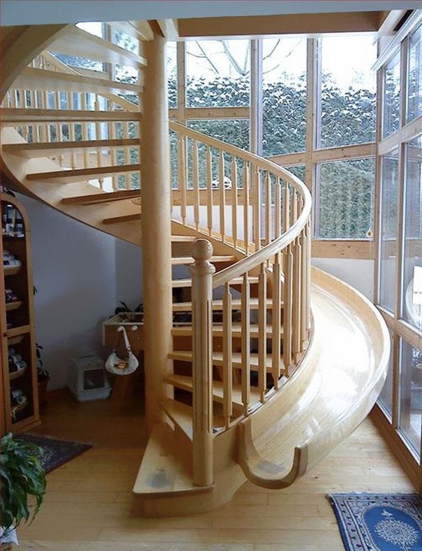 interior stairway slide